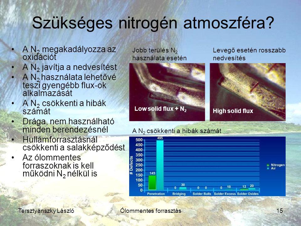 Szükséges nitrogén atmoszféra