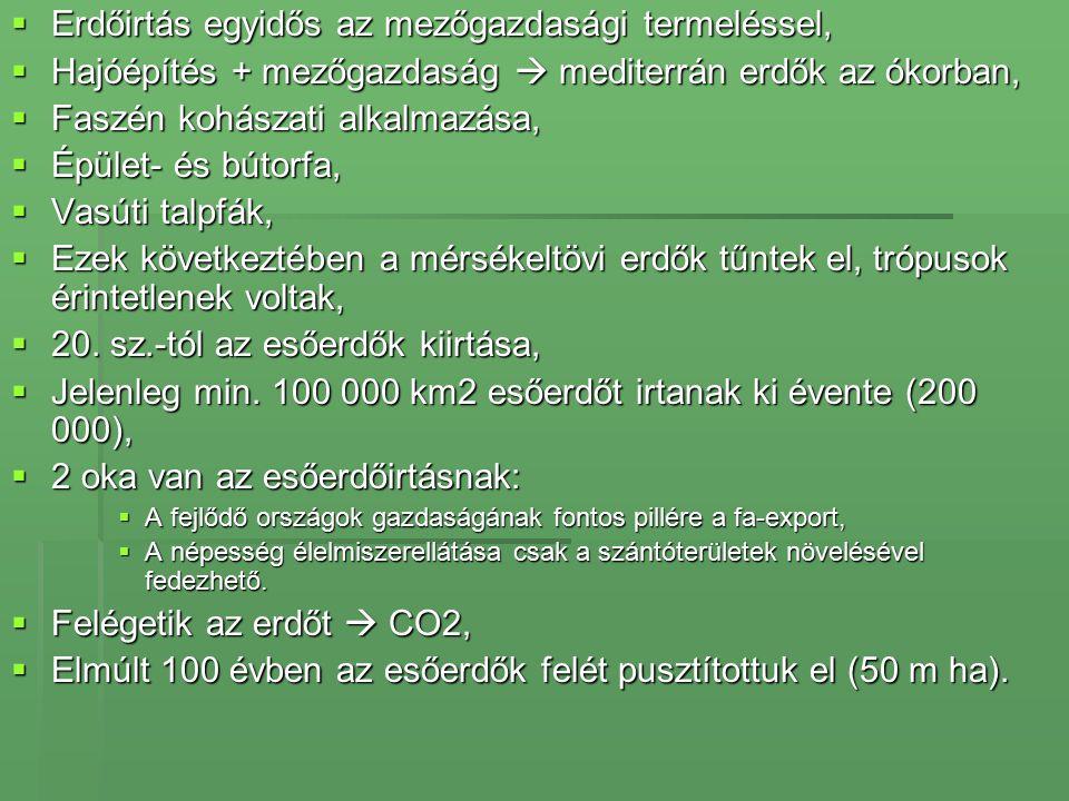Erdőirtás egyidős az mezőgazdasági termeléssel,