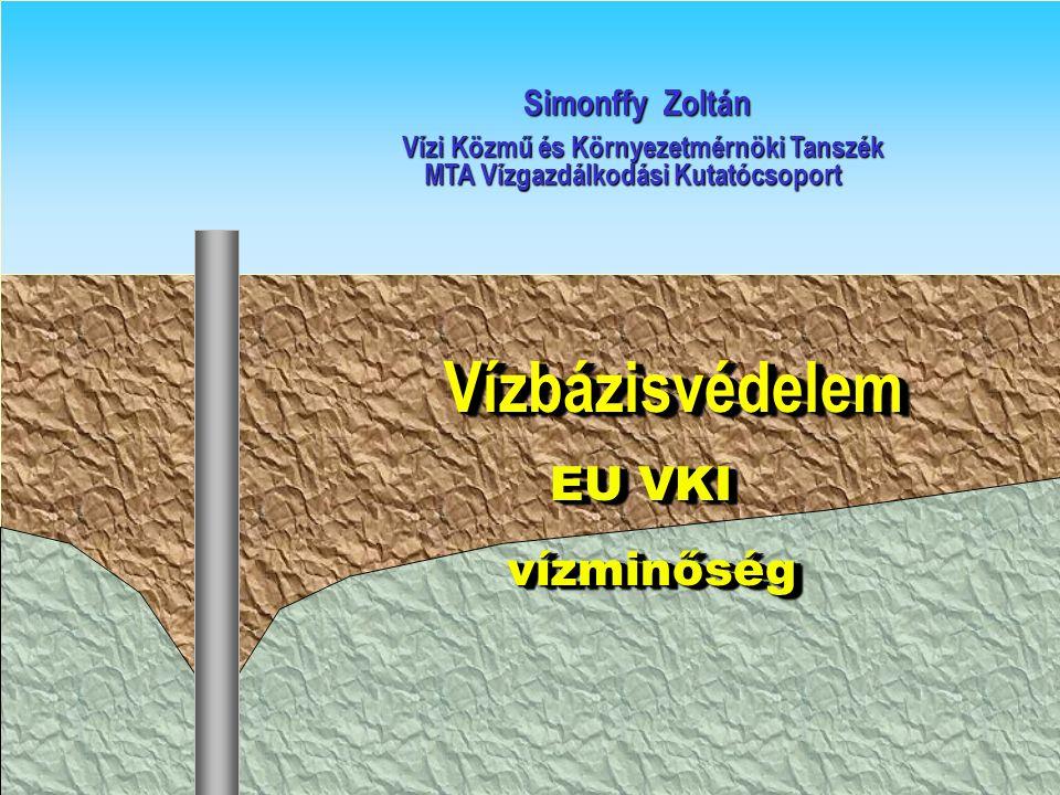Vízbázisvédelem EU VKI vízminőség Simonffy Zoltán