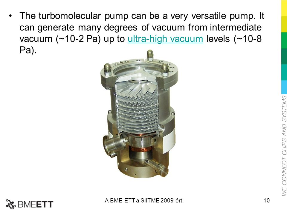 The turbomolecular pump can be a very versatile pump