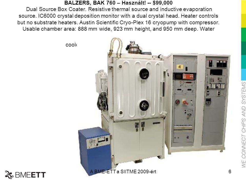 BALZERS, BAK 760 – Használt. -- $99,000 Dual Source Box Coater