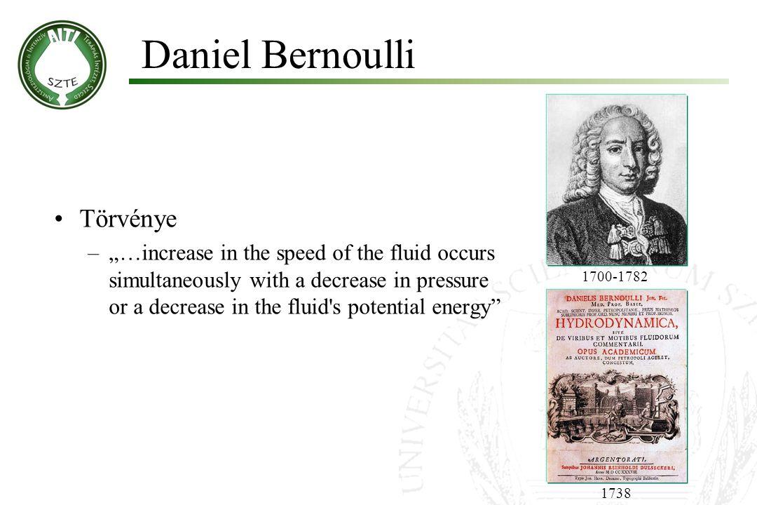 Daniel Bernoulli Törvénye