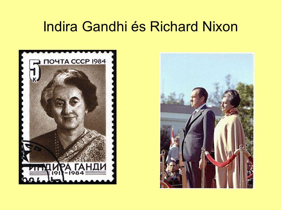 Indira Gandhi és Richard Nixon