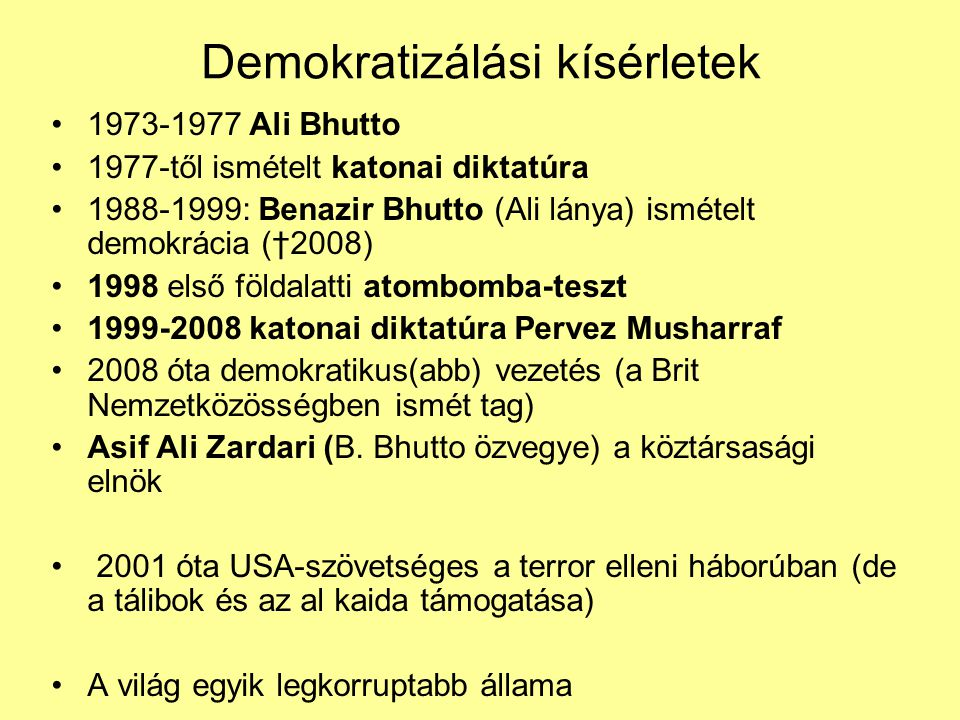 Demokratizálási kísérletek