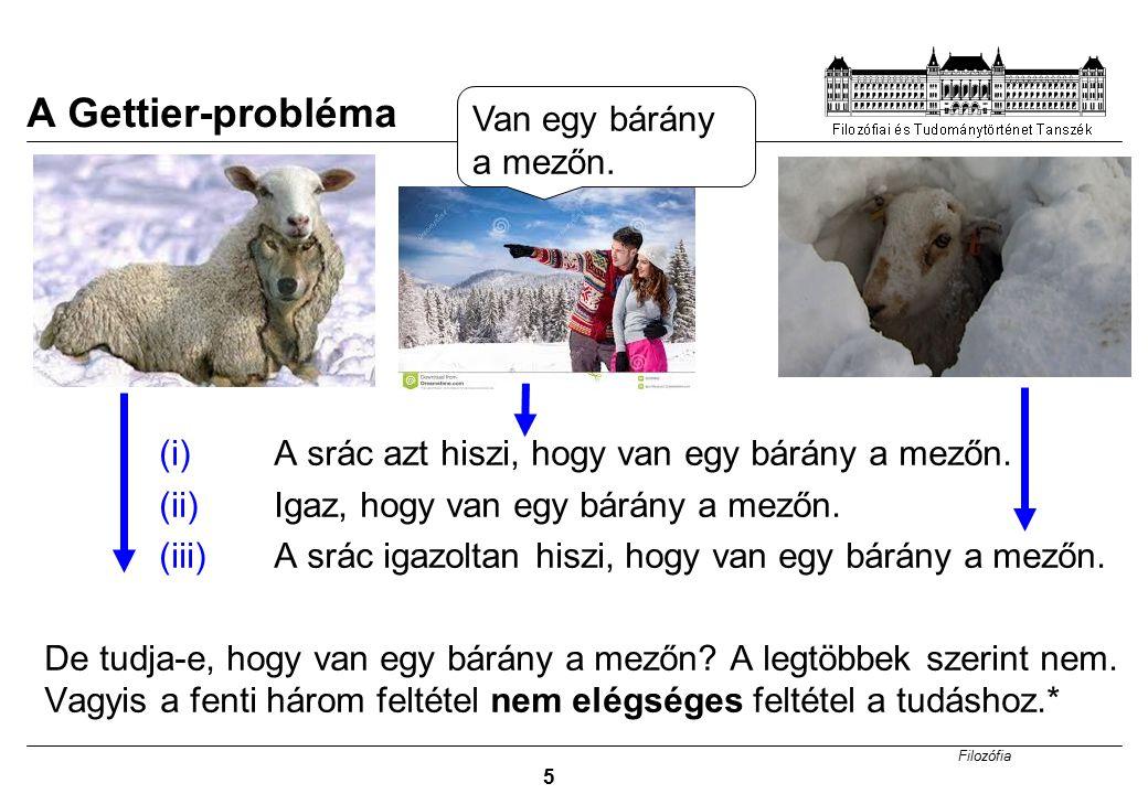 A Gettier-probléma Van egy bárány a mezőn.