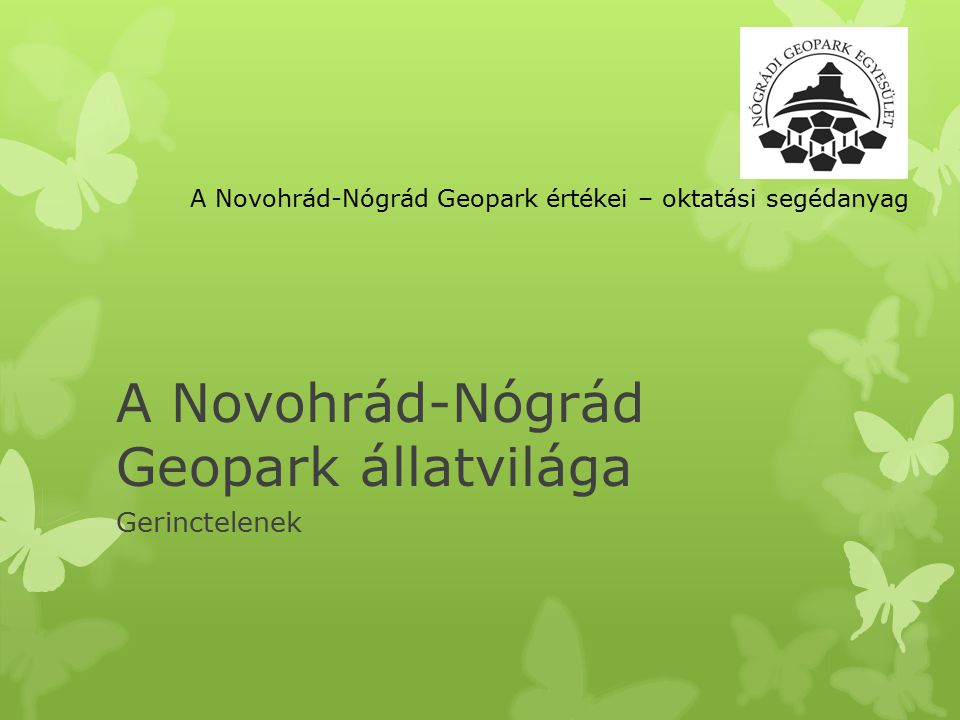 A Novohrád-Nógrád Geopark állatvilága