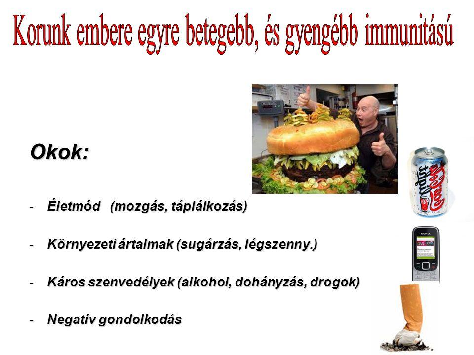 Korunk embere egyre betegebb, és gyengébb immunitású