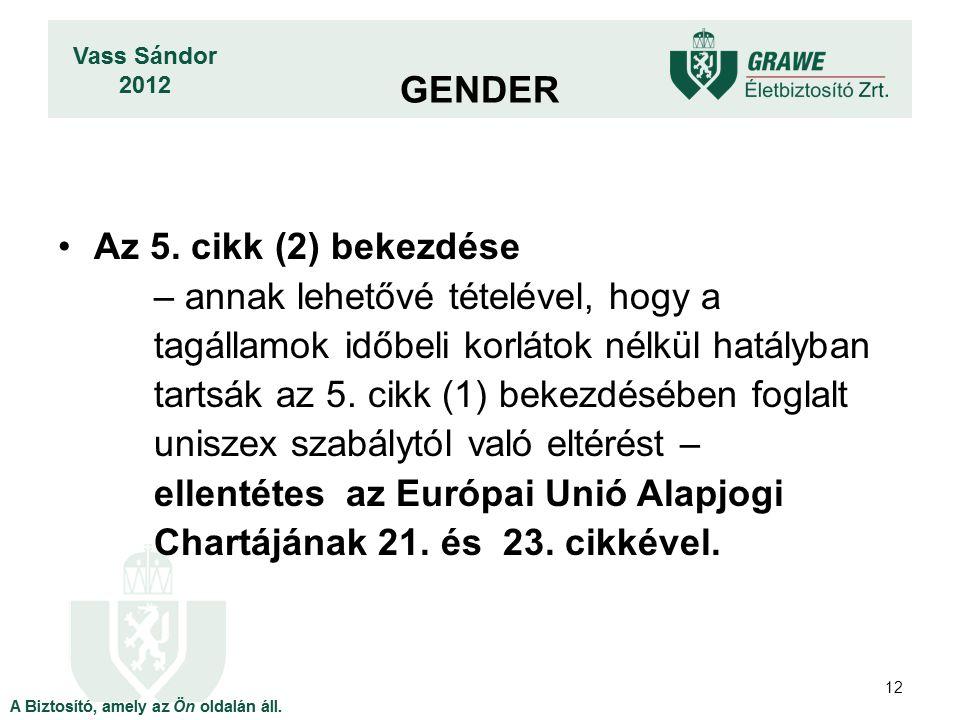 GENDER Az 5. cikk (2) bekezdése.