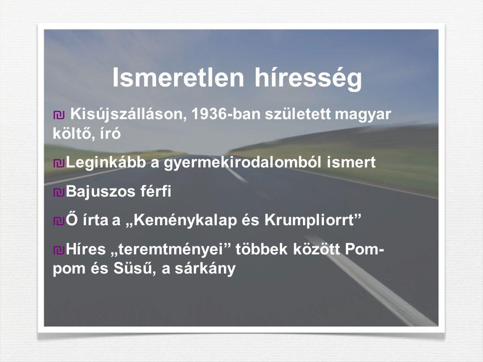 Ismeretlen híresség Kisújszálláson, 1936-ban született magyar költő, író. Leginkább a gyermekirodalomból ismert.