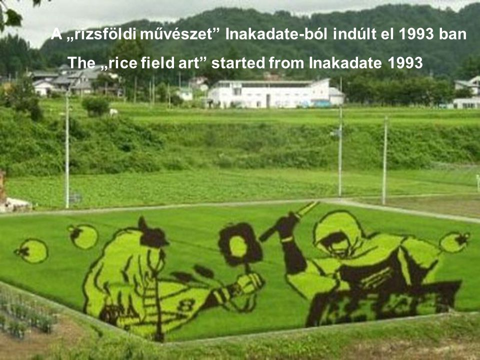 "The ""rice field art started from Inakadate 1993"
