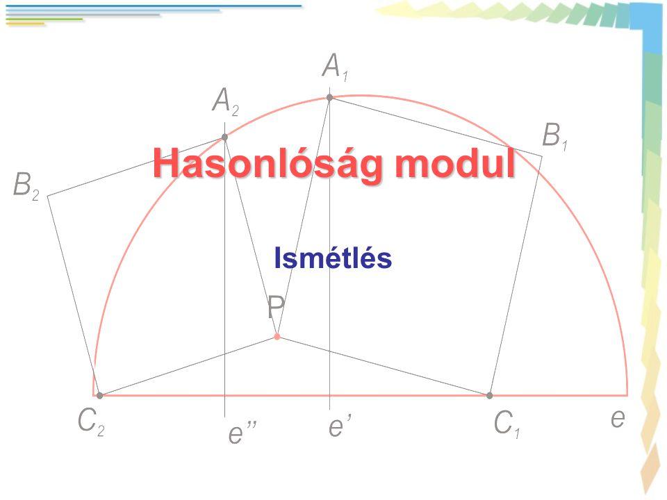 Hasonlóság modul Ismétlés