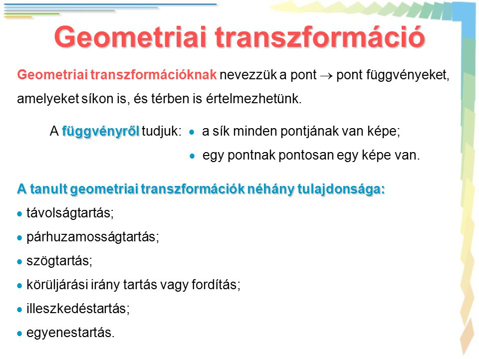 Geometriai transzformáció