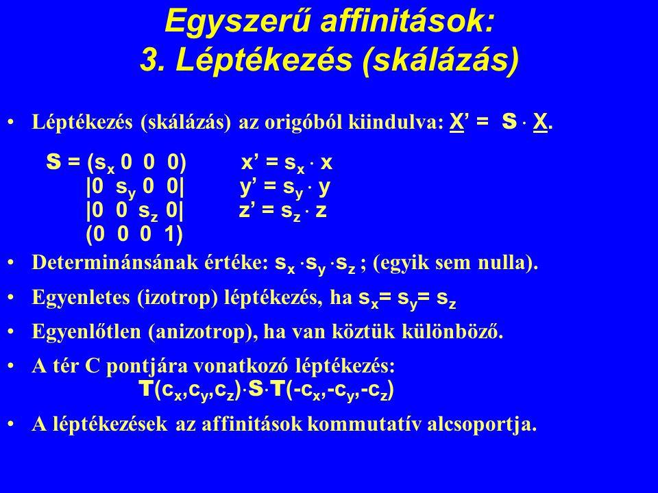 Egyszerű affinitások: 3. Léptékezés (skálázás)