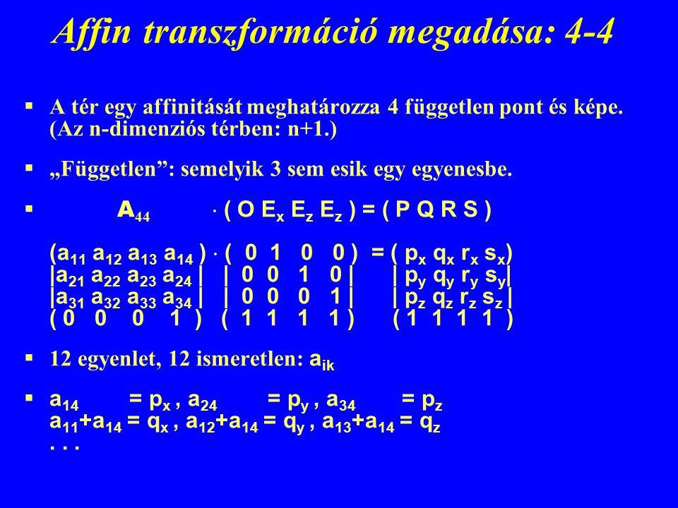 Affin transzformáció megadása: 4-4