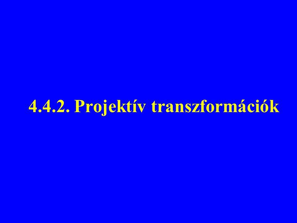 4.4.2. Projektív transzformációk
