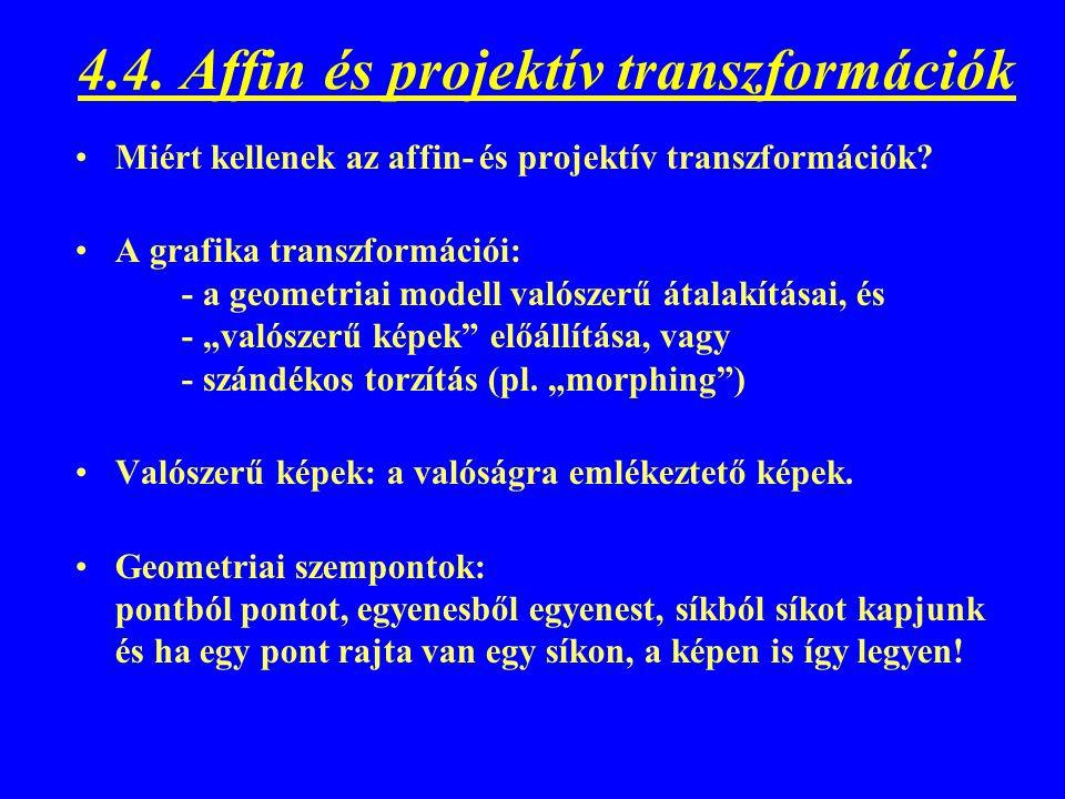 4.4. Affin és projektív transzformációk