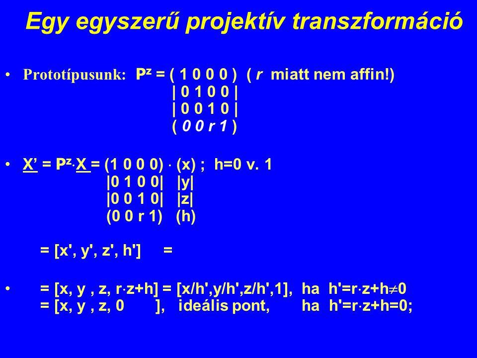 Egy egyszerű projektív transzformáció
