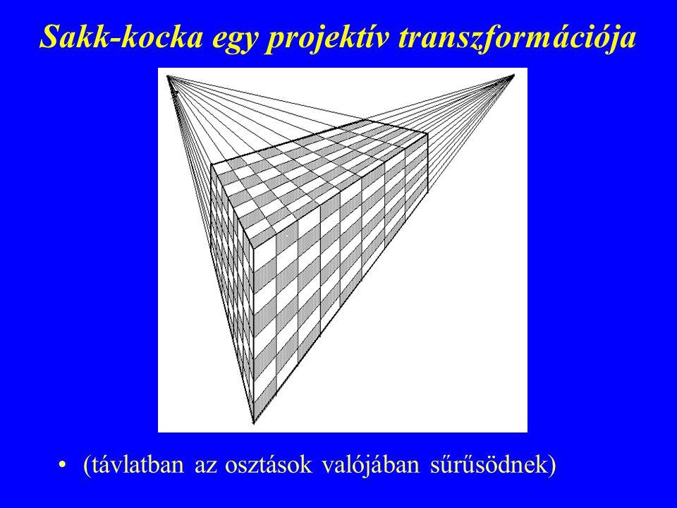 Sakk-kocka egy projektív transzformációja