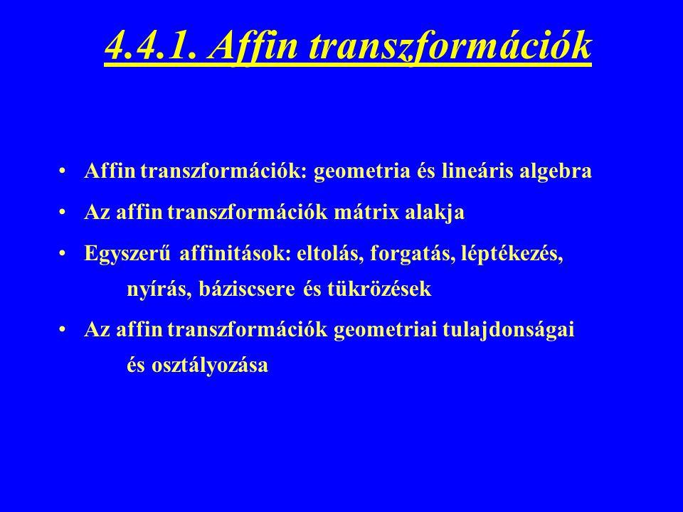 4.4.1. Affin transzformációk