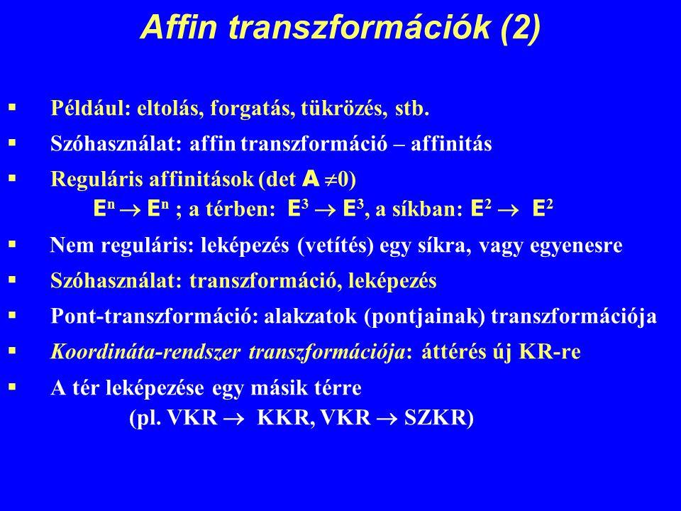 Affin transzformációk (2)