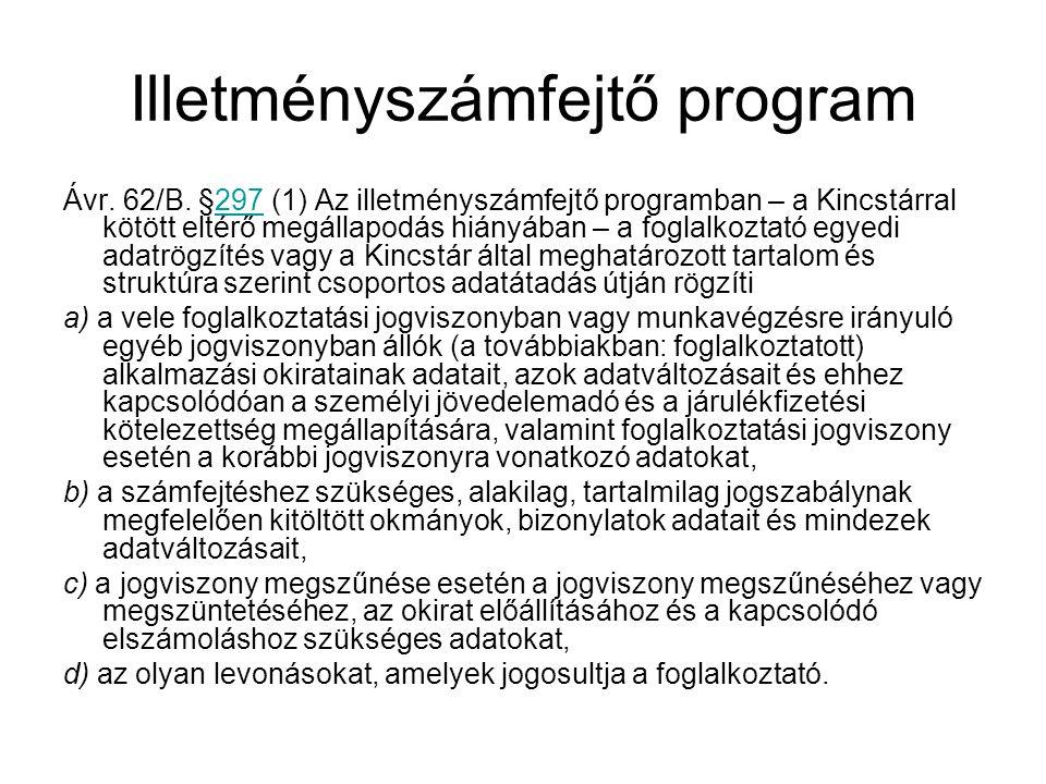 Illetményszámfejtő program