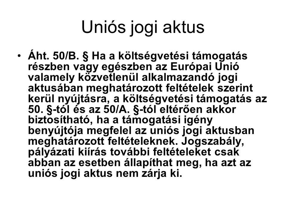 Uniós jogi aktus