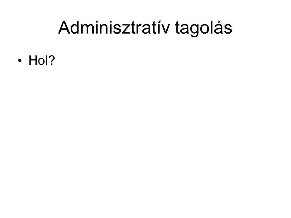 Adminisztratív tagolás