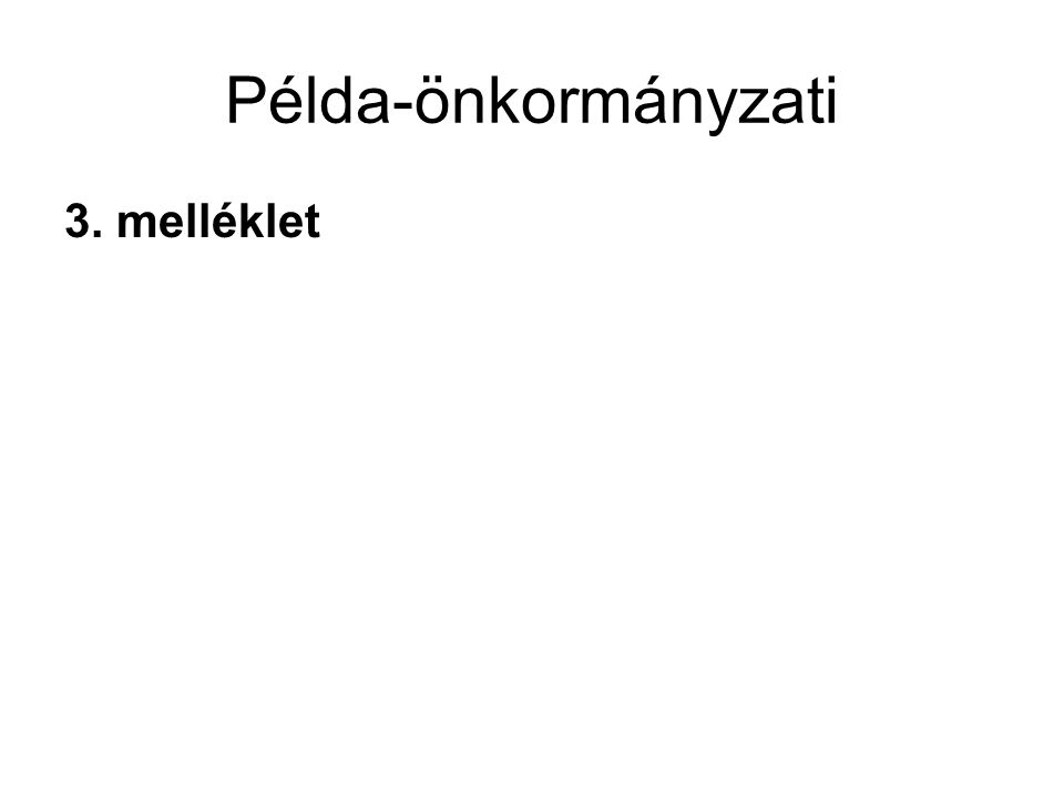 Példa-önkormányzati 3. melléklet