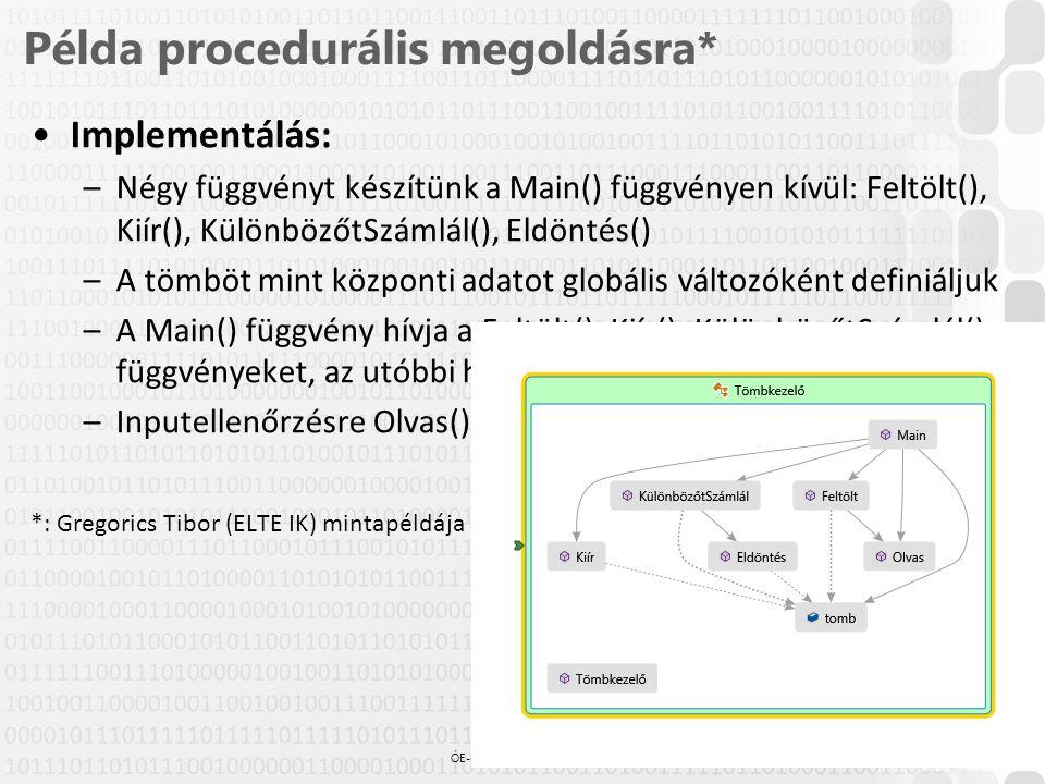 Példa procedurális megoldásra*