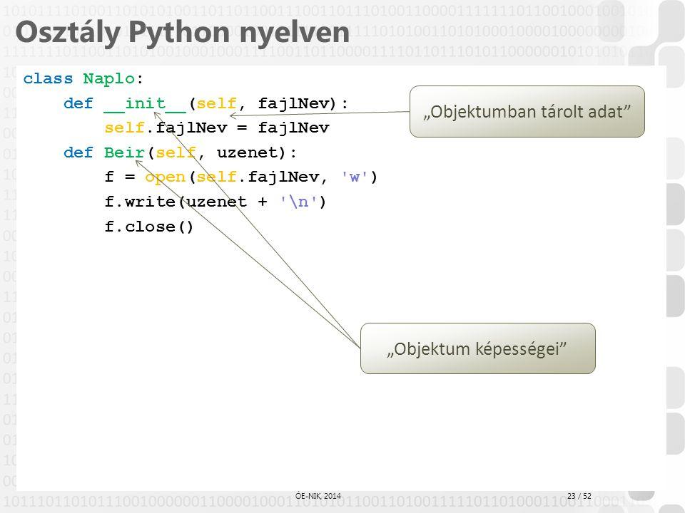 Osztály Python nyelven
