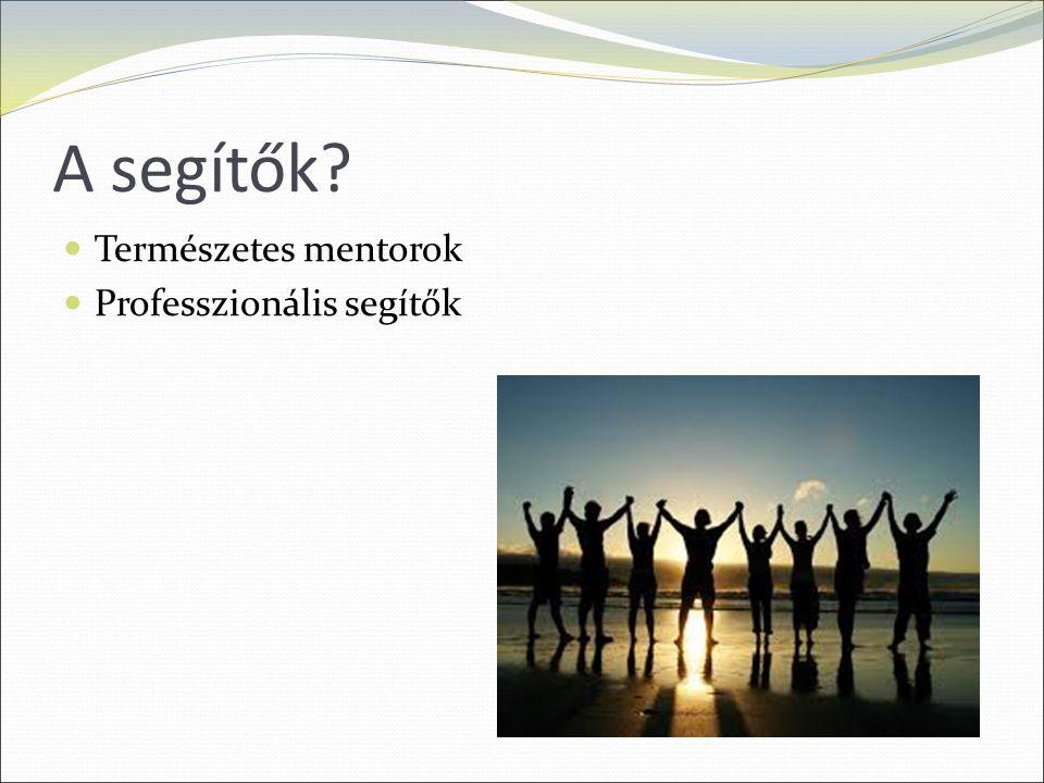 A segítők Természetes mentorok Professzionális segítők
