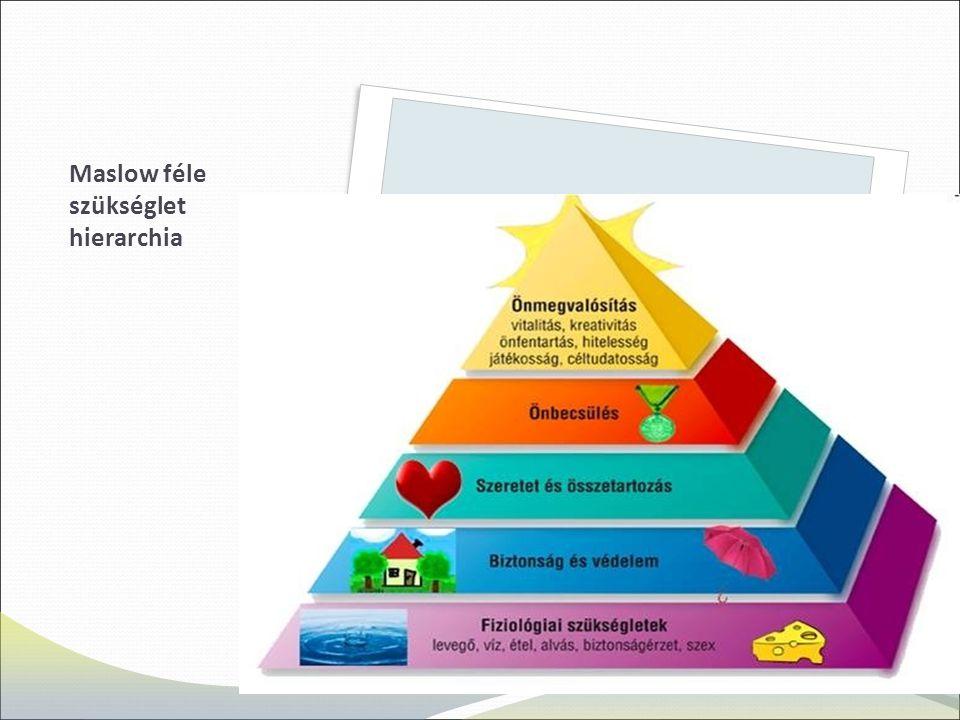 Maslow féle szükséglet hierarchia