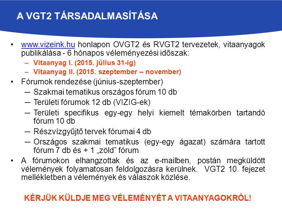 A VGT2 TÁRSADALMASÍTÁSA
