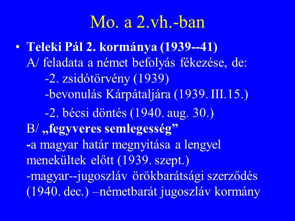 Mo. a 2.vh.-ban