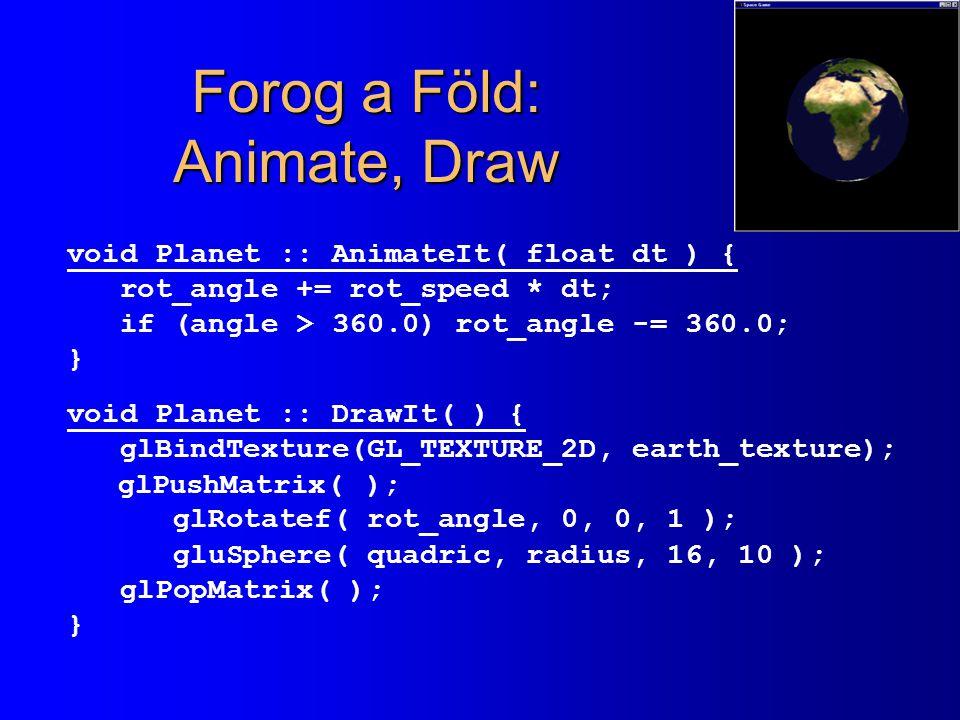 Forog a Föld: Animate, Draw