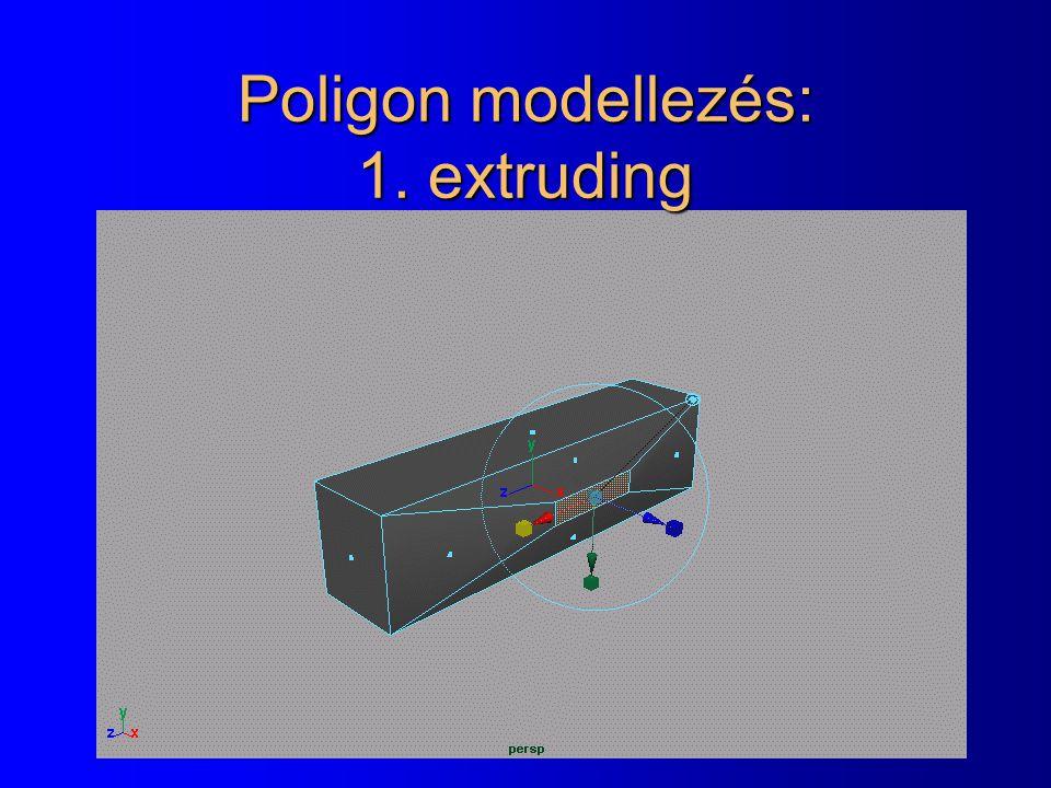 Poligon modellezés: 1. extruding