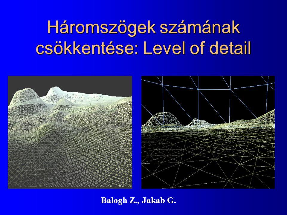 Háromszögek számának csökkentése: Level of detail