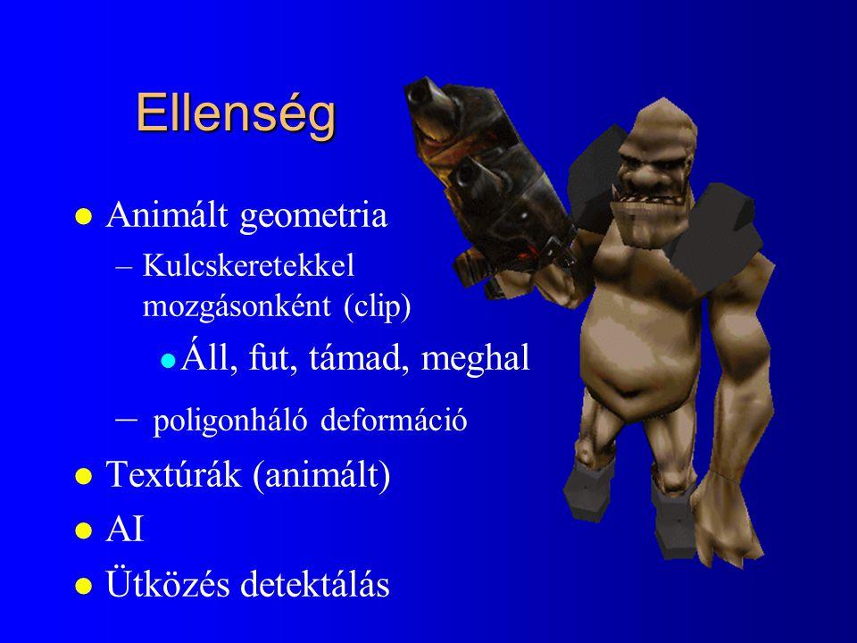Ellenség poligonháló deformáció Animált geometria