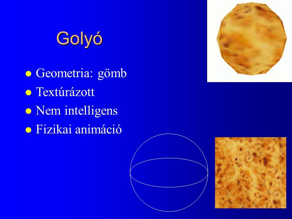 Golyó Geometria: gömb Textúrázott Nem intelligens Fizikai animáció