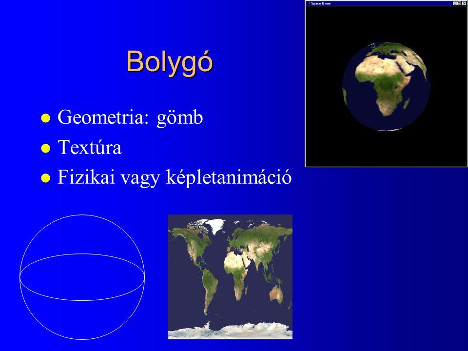 Bolygó Geometria: gömb Textúra Fizikai vagy képletanimáció