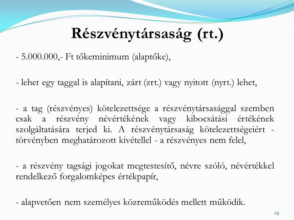 Részvénytársaság (rt.)