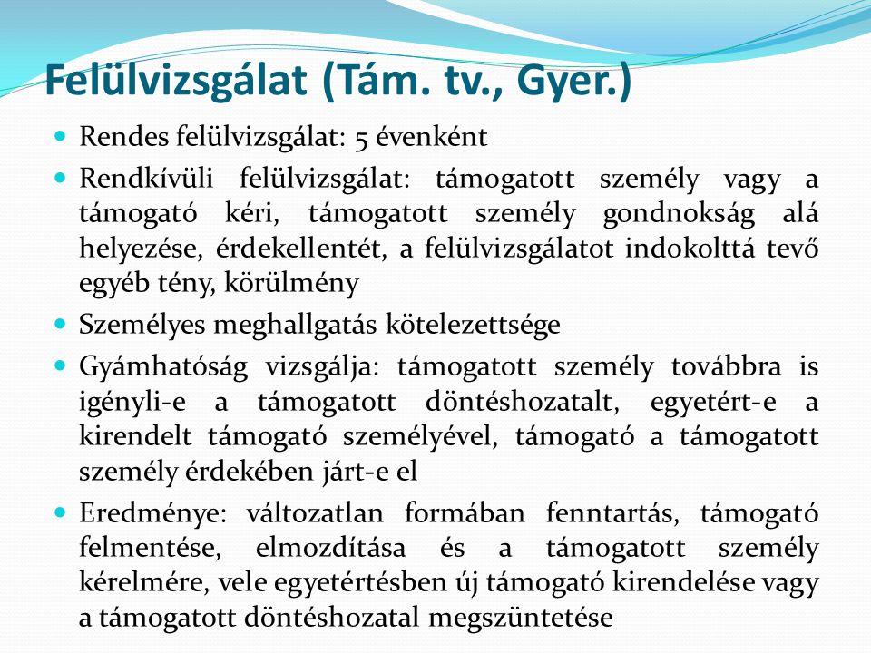 Felülvizsgálat (Tám. tv., Gyer.)