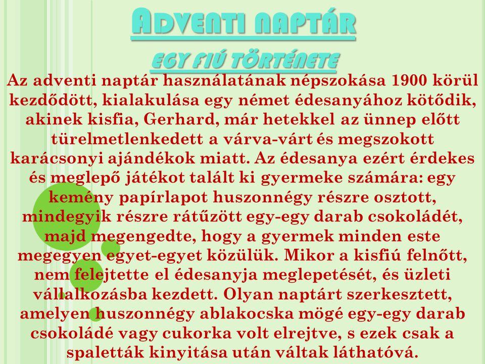 Adventi naptár egy fiú története