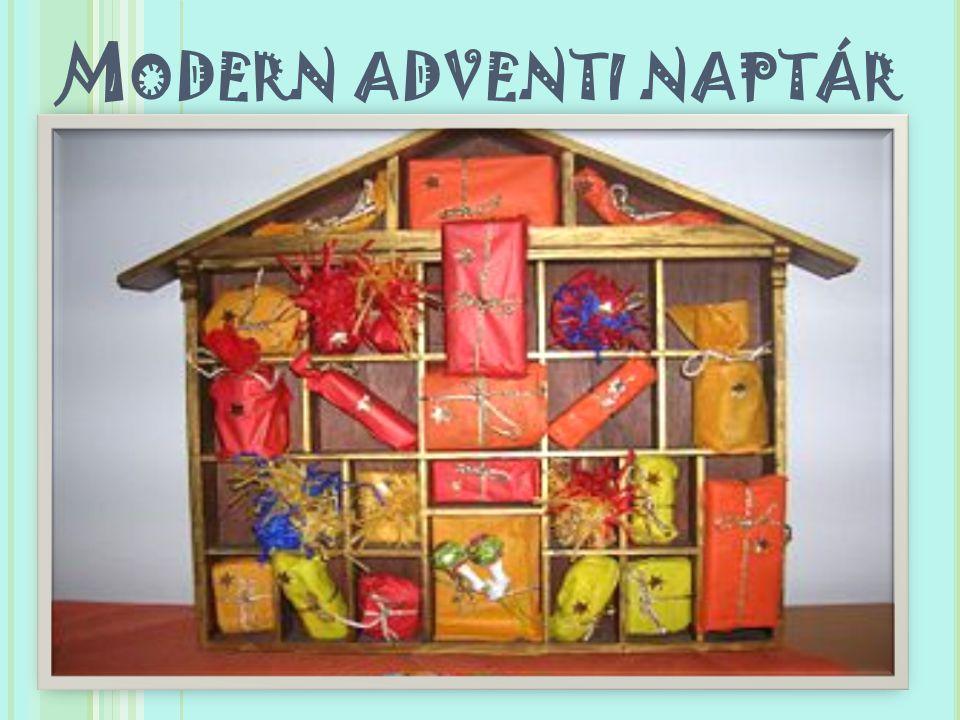 Modern adventi naptár