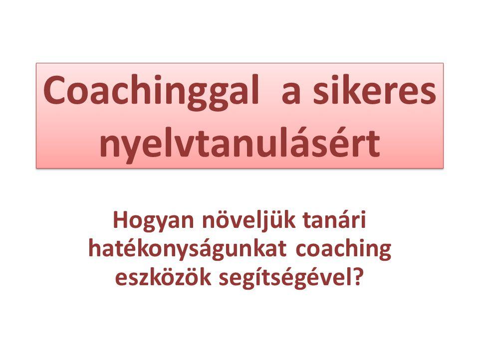 Coachinggal a sikeres nyelvtanulásért
