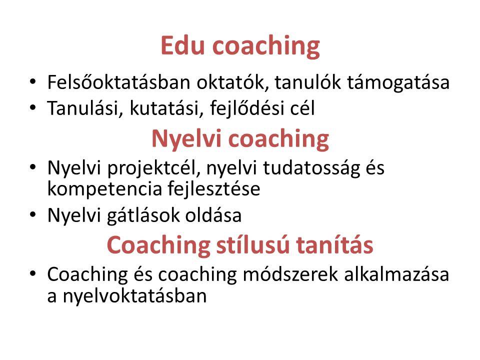 Coaching stílusú tanítás