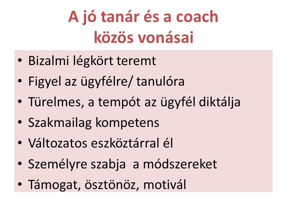 A jó tanár és a coach közös vonásai