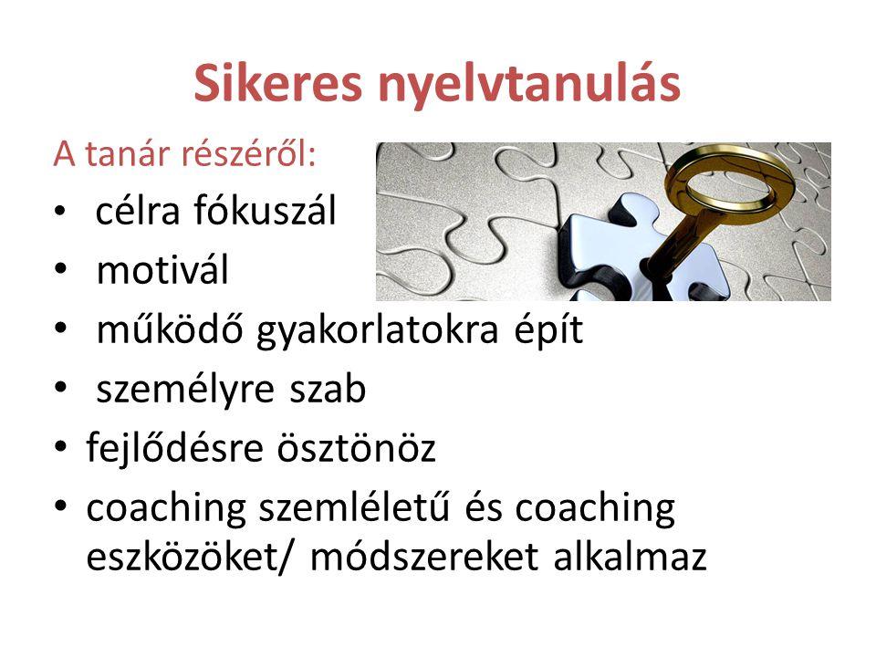 Sikeres nyelvtanulás motivál működő gyakorlatokra épít személyre szab