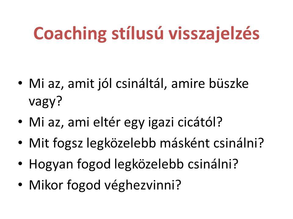 Coaching stílusú visszajelzés