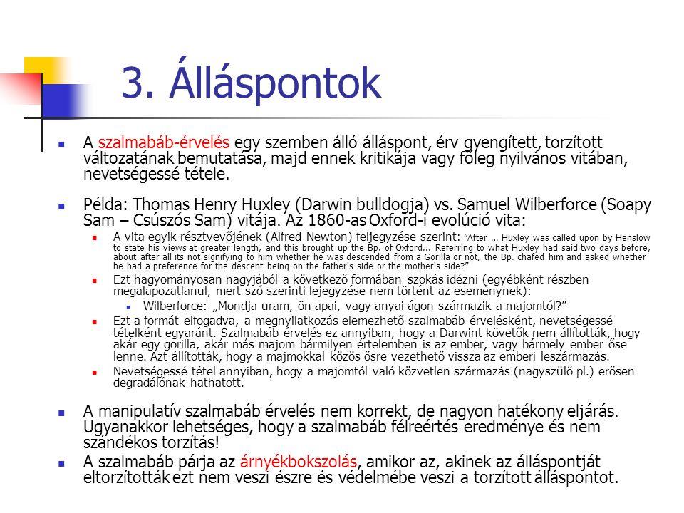 3. Álláspontok